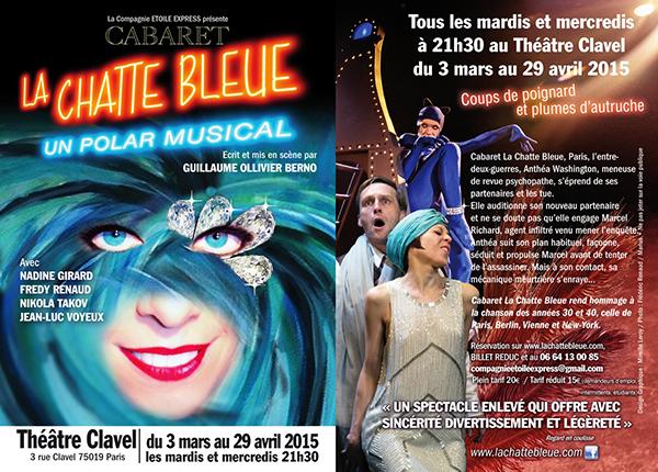 CABARET LA CHATTE BLEUE MARS AVRIL 2015